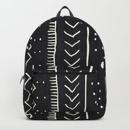 Moroccan Stripe in Black and White Backpack
