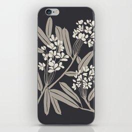 Boho Botanica Black iPhone Skin