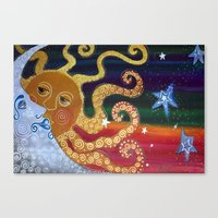 celestial Canvas Prints featuring Celestial by Laura Barbosa Art