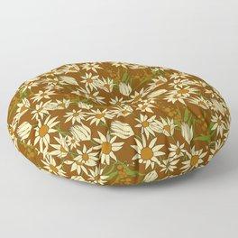 Flannel Flower Fields Floor Pillow