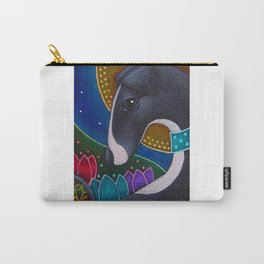 SPRING GREYHOUND DOG with HALO IN MY GARDEN Carry-All Pouch