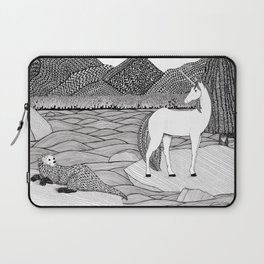 A Meeting by the Water--B&W Laptop Sleeve