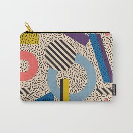 Memphis Inspired Pattern 3 Carry-All Pouch