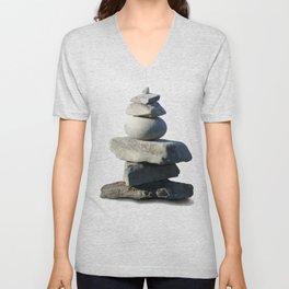 Stone on stone,  tranquility Unisex V-Neck