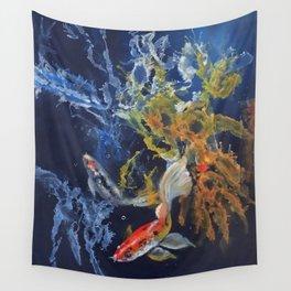 Splish Splash Koi Wall Tapestry