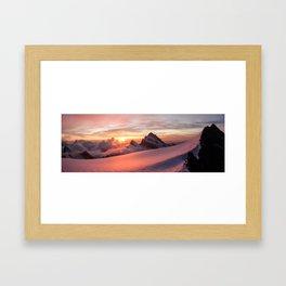 Finsteraarhorn Framed Art Print