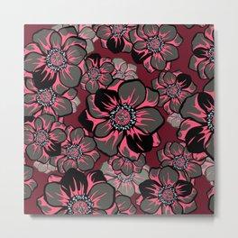 Mandala Flowers 16 Metal Print