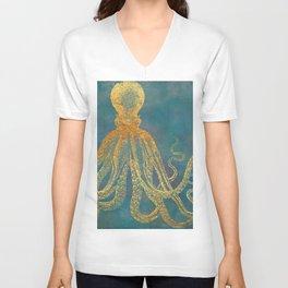 Deep Sea Life Octopus Unisex V-Neck
