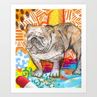 Bulldog pop art Art Print