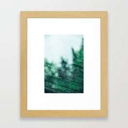 Raindrops are falling on my head Framed Art Print