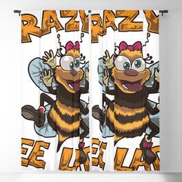 Crazy Bee Lady - Bee Lover Woman Blackout Curtain