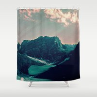 mountain Shower Curtains featuring Mountain Call by Schwebewesen • Romina Lutz