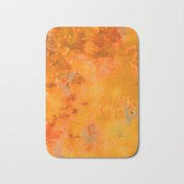 Orange with Something Else Bath Mat