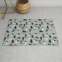 Coonhounds on Blue Rug