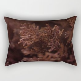 Red Winter Leaves, Georgia Forest Rectangular Pillow