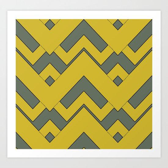 zig zag mustard Art Print