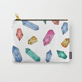 Crystals pattern - White Carry-All Pouch