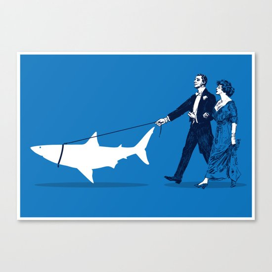 Walking the Shark Canvas Print