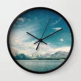 Nautical Tetons Wall Clock