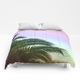 Palm Leaves  - Tropical Sky - Chilling Time Comforters