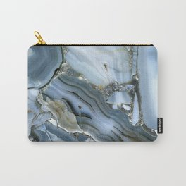 Golden Aqua Marble Carry-All Pouch