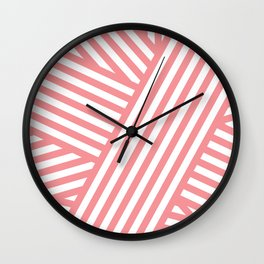 Coral Bandaids Wall Clock
