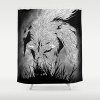 the hound Shower Curtains featuring Hound by hardy mayes