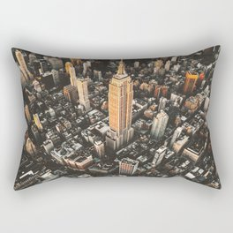 new york city aerial view Rectangular Pillow