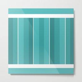 Turquoise Panels Metal Print