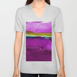 Meditations No. 33J by kathy Morton Stanion Unisex V-Neck
