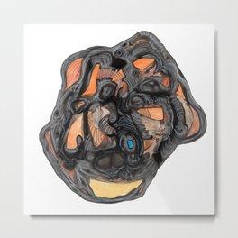 Heart of Coal Metal Print