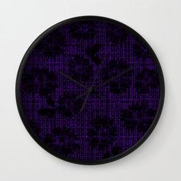 Floral Lace (Dark) - Plum Wall Clock