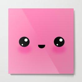 Kawaii Bubblegum (Pinky) Metal Print