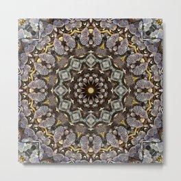 Mushroom mandala 5 Metal Print