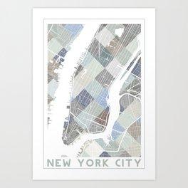 New York Blocks. Art Print