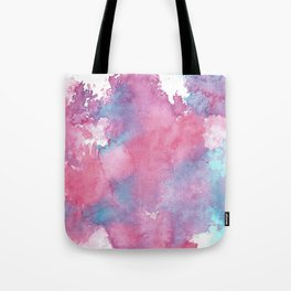 Pink, Purple and Blue Abstract Watercolour Tote Bag