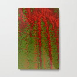 Cacti Abstract II Metal Print