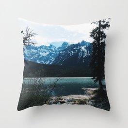 Mountains scene -Banff Throw Pillow