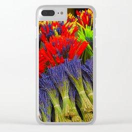 Market Flowers - L'Isle-sur-la-Sorgue France Clear iPhone Case