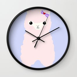 Alpaca in Love V 2 Wall Clock