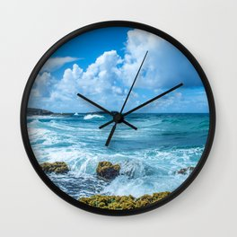 Ocean Blue San Juan Puerto Rico Wall Clock