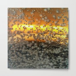 Impressions of Metallic Bubbles Metal Print