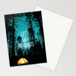 Lets Get In Tents Stationery Cards