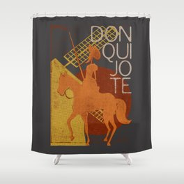 Books Collection: Don Quixote Shower Curtain