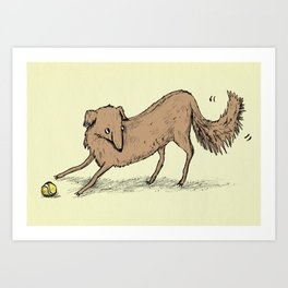 Playful Dog Art Print