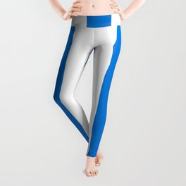Microsoft Edge blue - solid color - white vertical lines pattern Leggings
