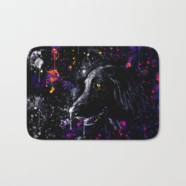 black labrador retriever dog wsfn Bath Mat