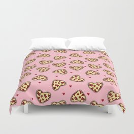 Pizza hearts cute love gifts foodie valentines day slices Duvet Cover