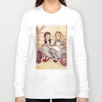 text Long Sleeve T-shirts featuring Dorothy and Alice by Helen Green