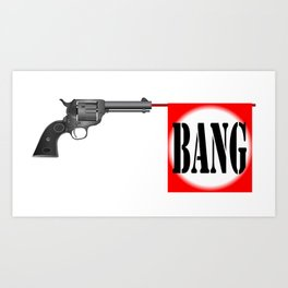 Wild West Bang Art Print